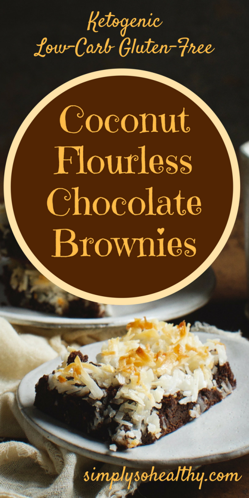 Keto Coconut Flourless Chocolate Brownies
