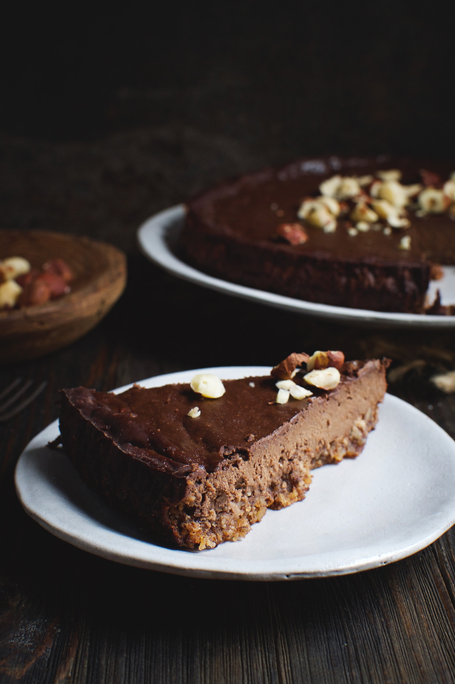 Low-Carb Chocolate Hazelnut Fudge Pie