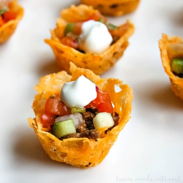 Low-Carb Appetizers: Low-Carb-Taco-Cups
