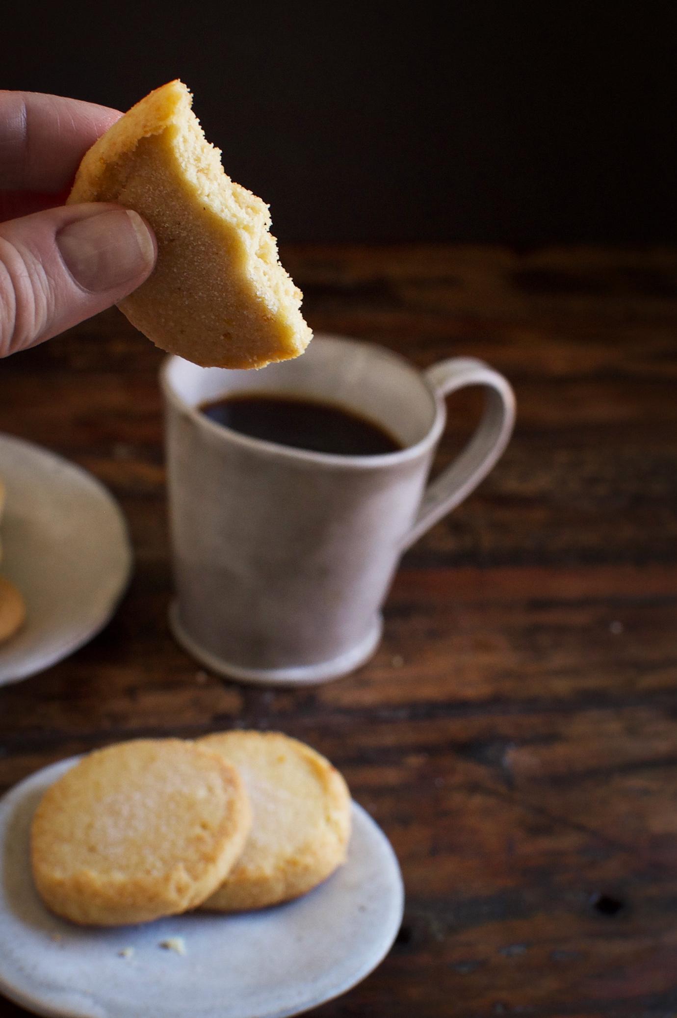 Low-Carb Sugar Cookies-Inside of cookie.