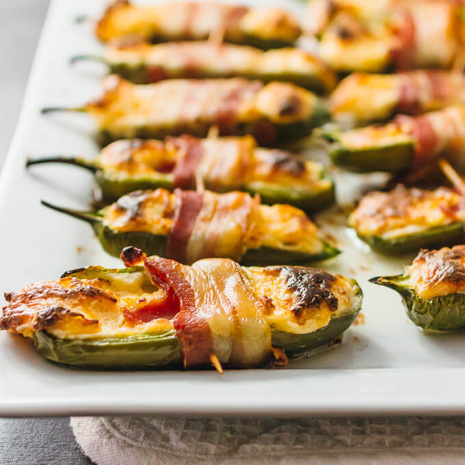 Low-Carb Appetizers: bacon-wrapped-jalapeno-peppers