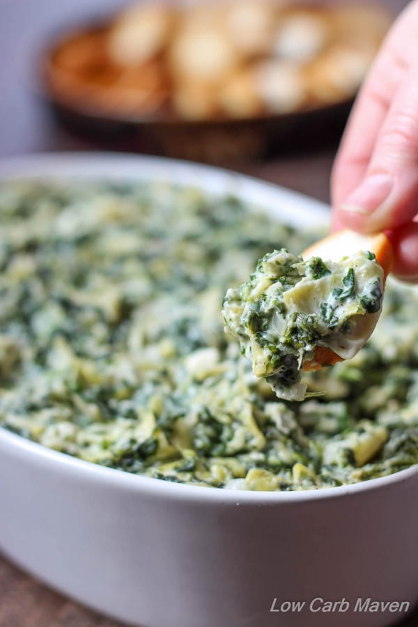 Low-Carb Appetizers: Feta Spinach Artichoke Dip