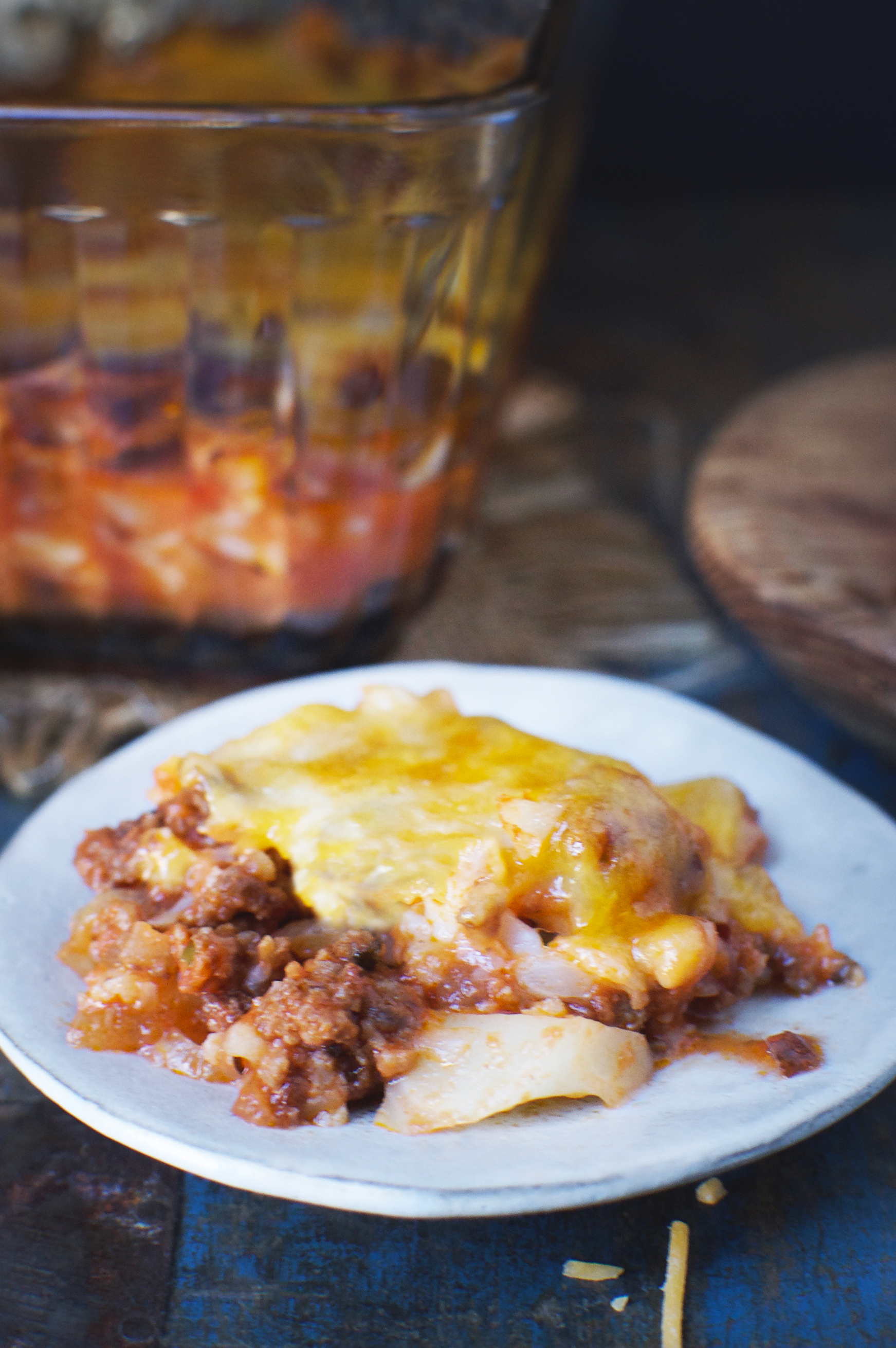 Keto-Friendly Italian Ground Beef Casserole Recipe on a plate.