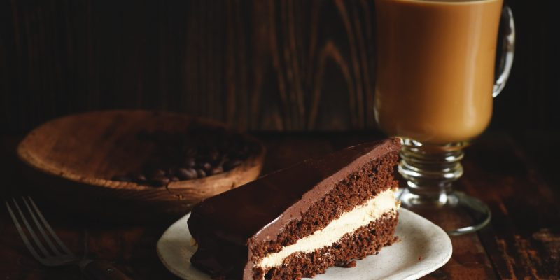 Low-Carb Chocolate Latte Dream Cake