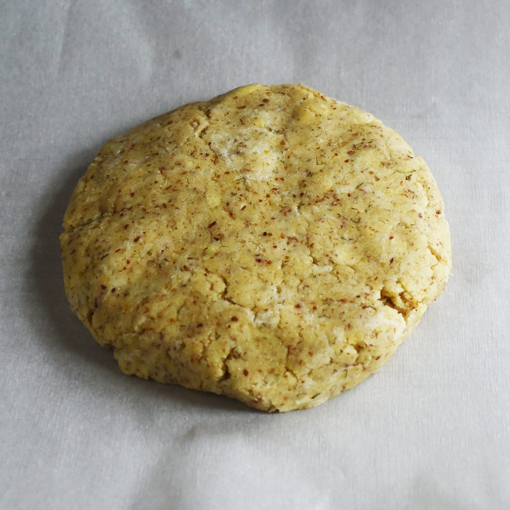 Low-Carb Onion Dill Savory Scones -Shaping the dough.