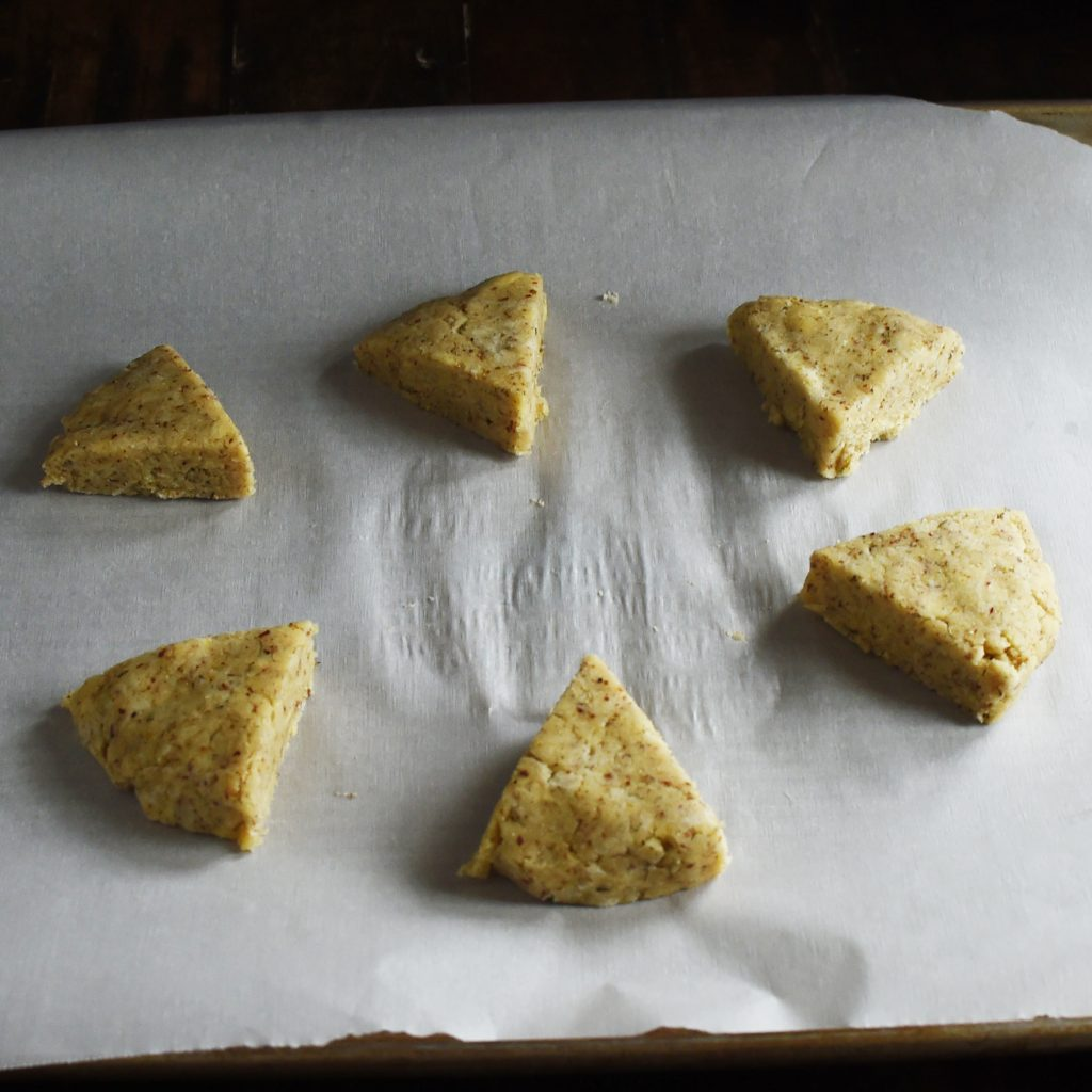 Low-Carb Onion Dill Savory Scones -Ready for the oven