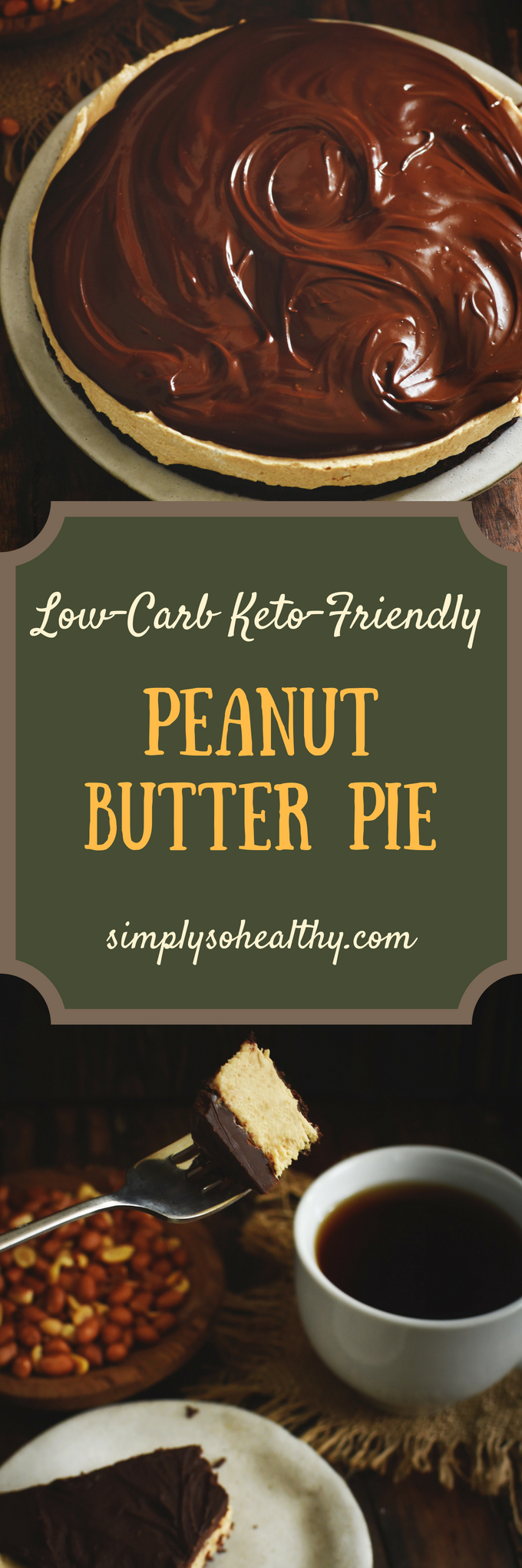 Photo of Low-Carb Peanut Butter Pie Recipe cover with text