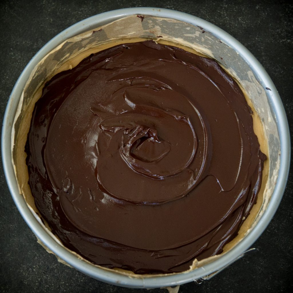 Final process photo of completed peanut butter pie.