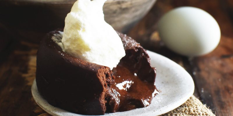Low-Carb Chocolate Lava Cake Recipe