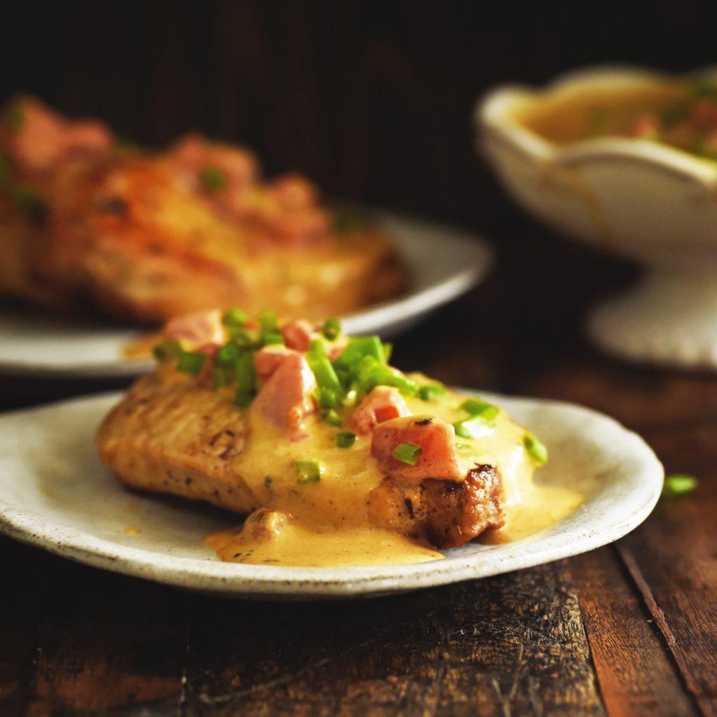 Boneless Pork Chops with Tomato Cream Sauce Recipe - Simply