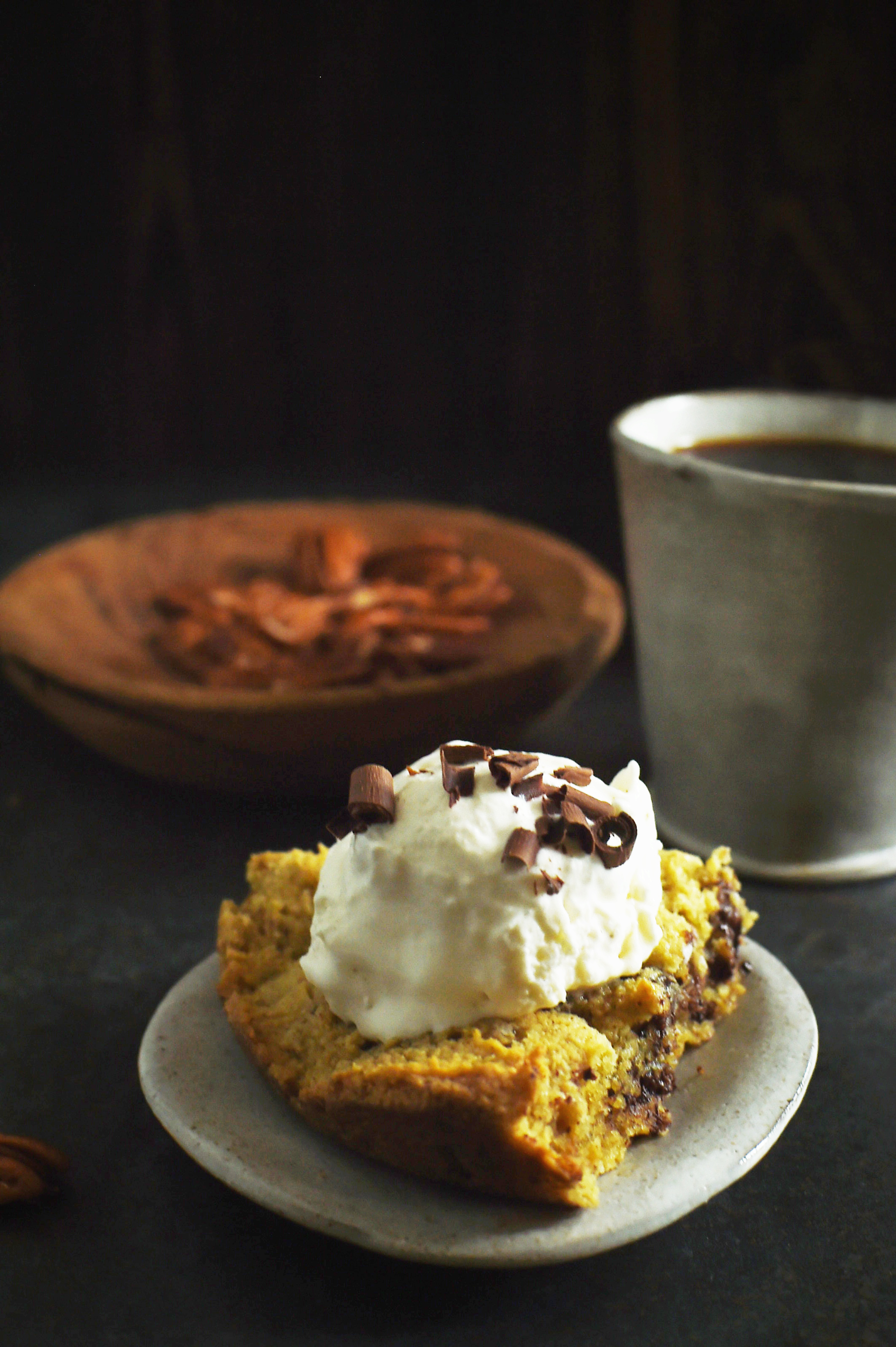 Low-Carb Skillet Chocolate Chip Cookie Recipe-A since served up with ice cream and coffee.