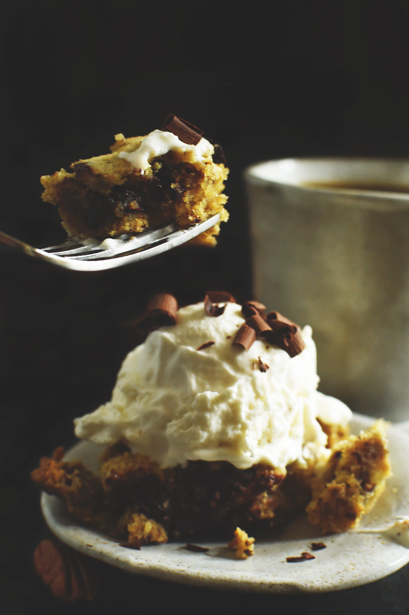 Low-Carb Skillet Chocolate Chip Cookie Recipe-Taking a bite.