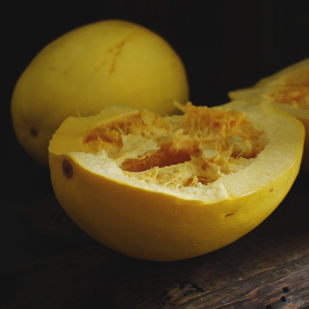 Instant Pot Spaghetti Squash--Cutting the squash in half.