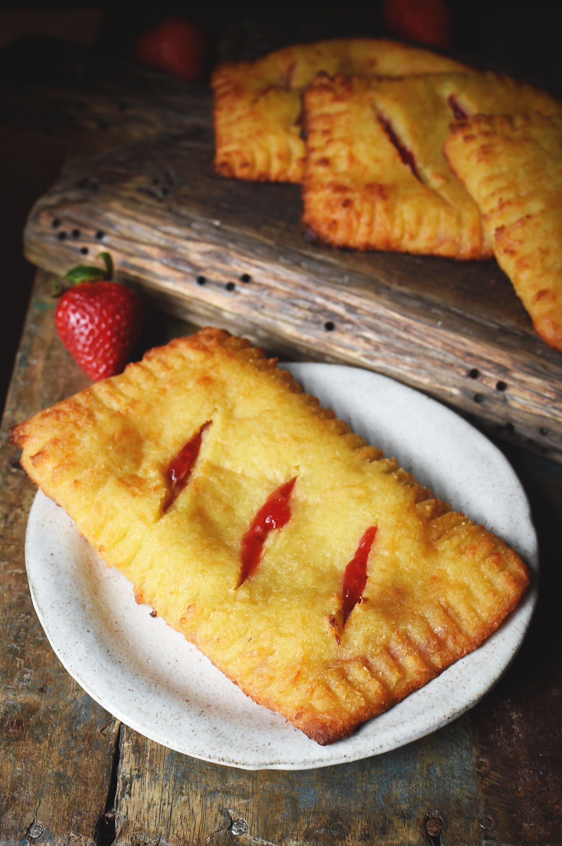 Low-Carb Strawberry Pastries Recipe-served on a plate.