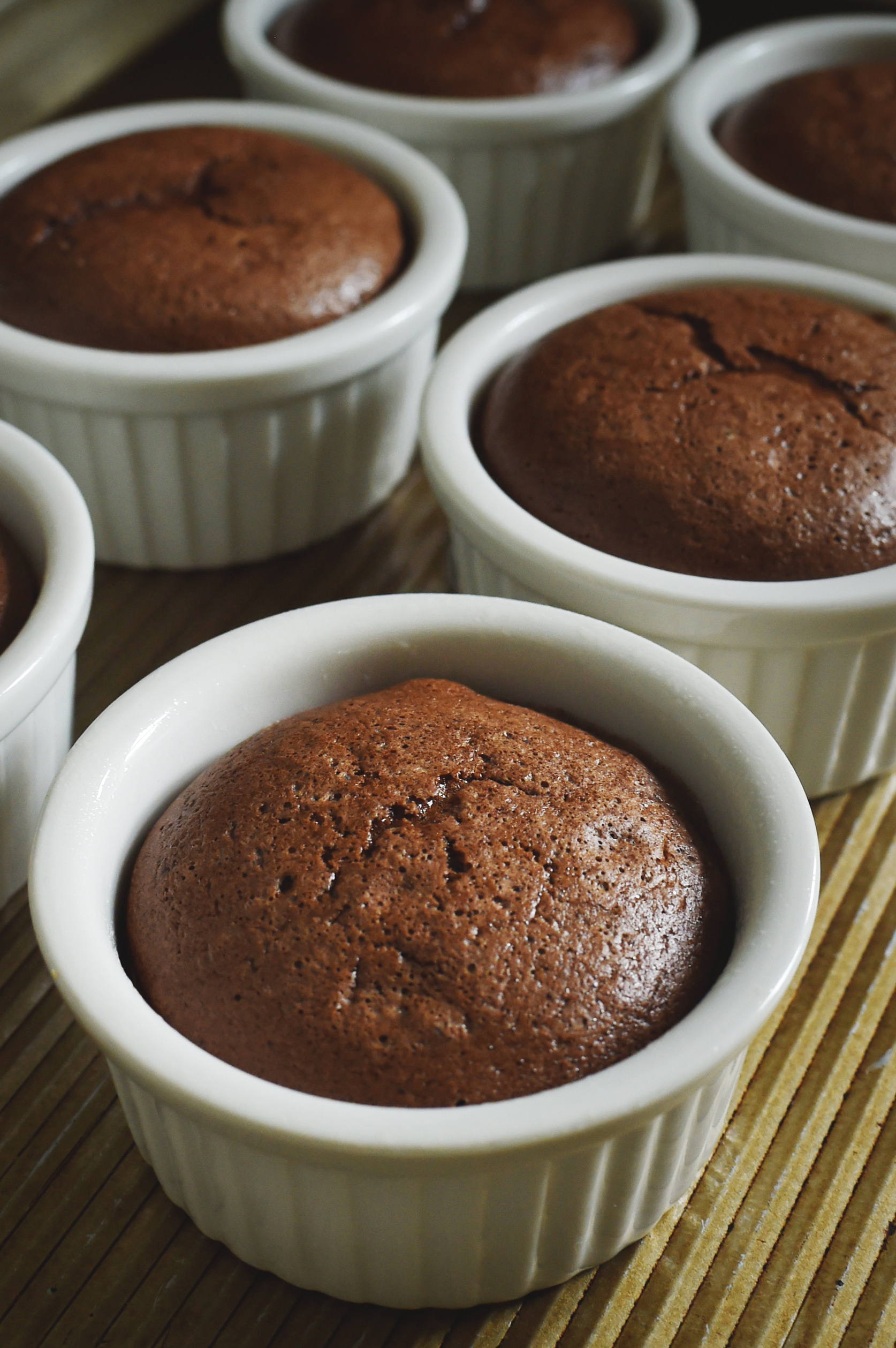 Low-Carb Chocolate Soufflé Recipe -just out of the oven.
