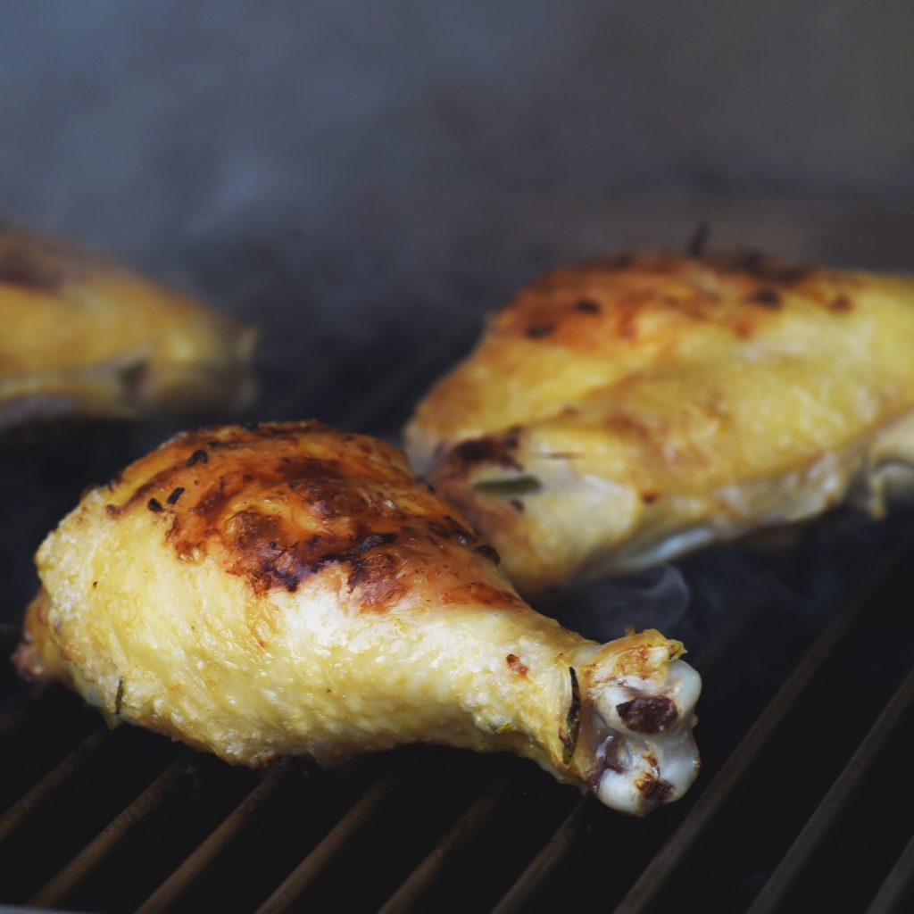 Grilled Rosemary Lemon Chicken-second side down.