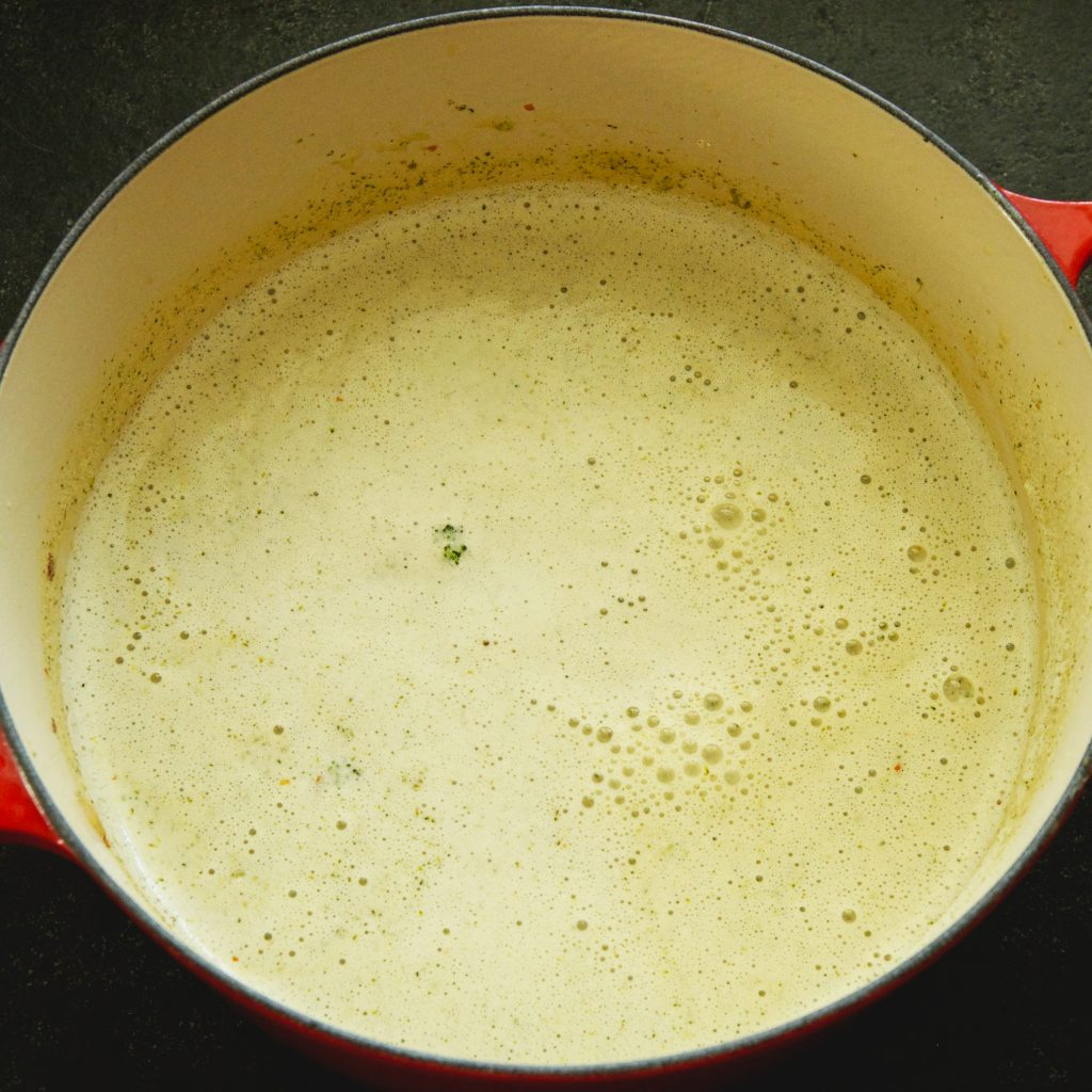 Low-Carb Broccoli Cheddar Soup Recipe-After blending