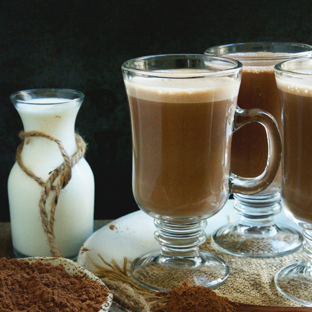 Keto-Friendly Sugar-Free Hot Chocolate Recipe --after pouring