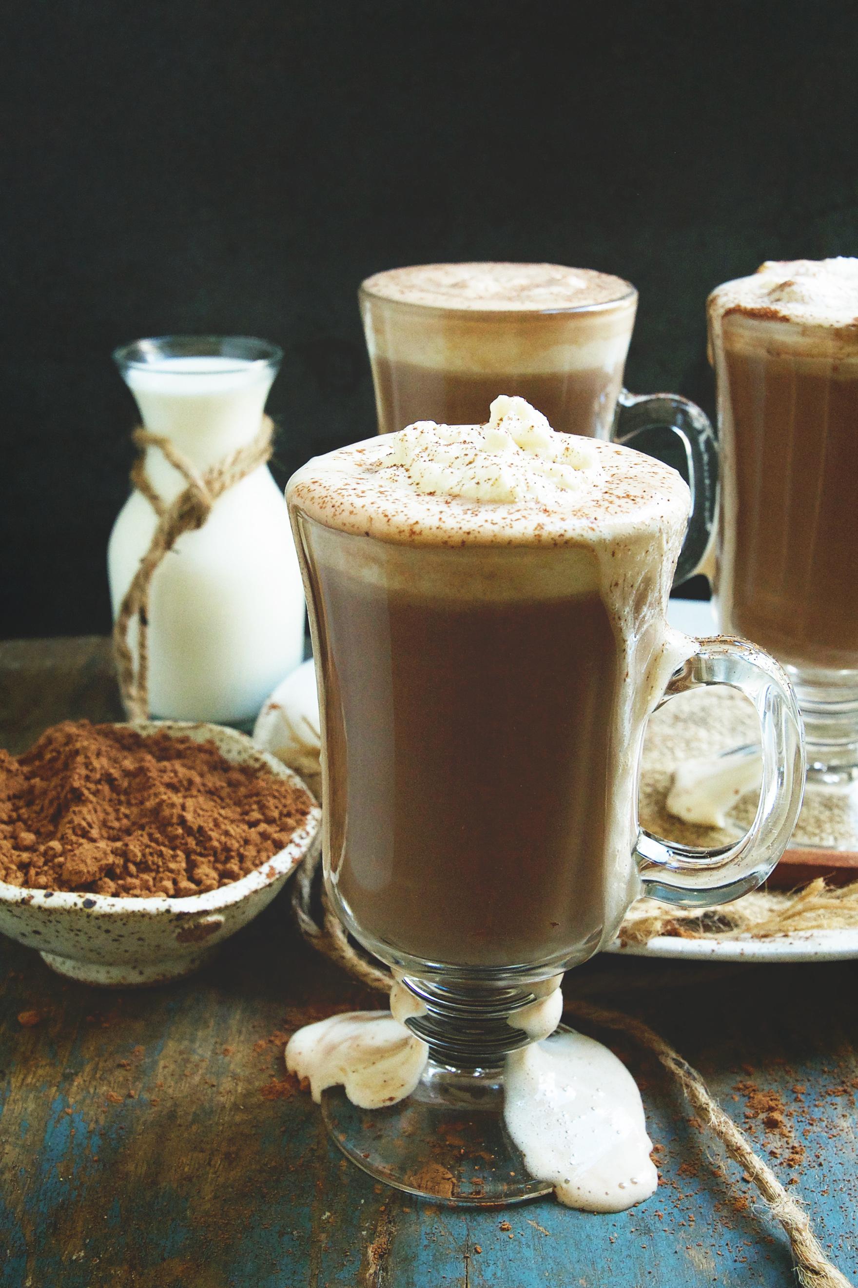 Keto-Friendly Sugar-Free Hot Chocolate Recipe -Ready to serve.