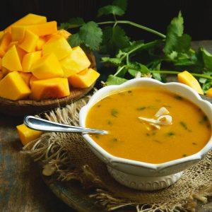 Low-Carb Thai Curried Butternut Squash Soup Recipe image