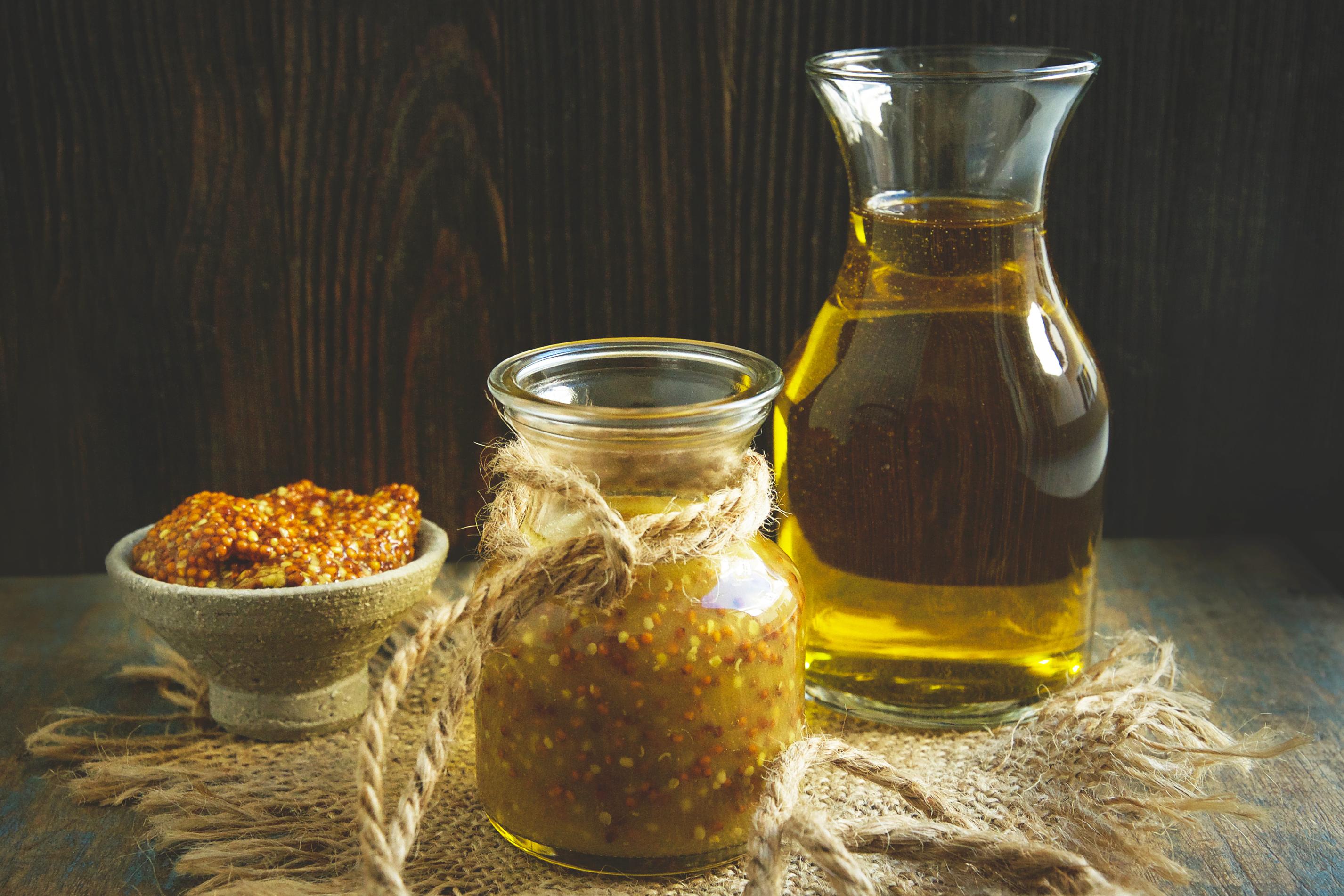 Low-Carb Maple Mustard Vinaigrette