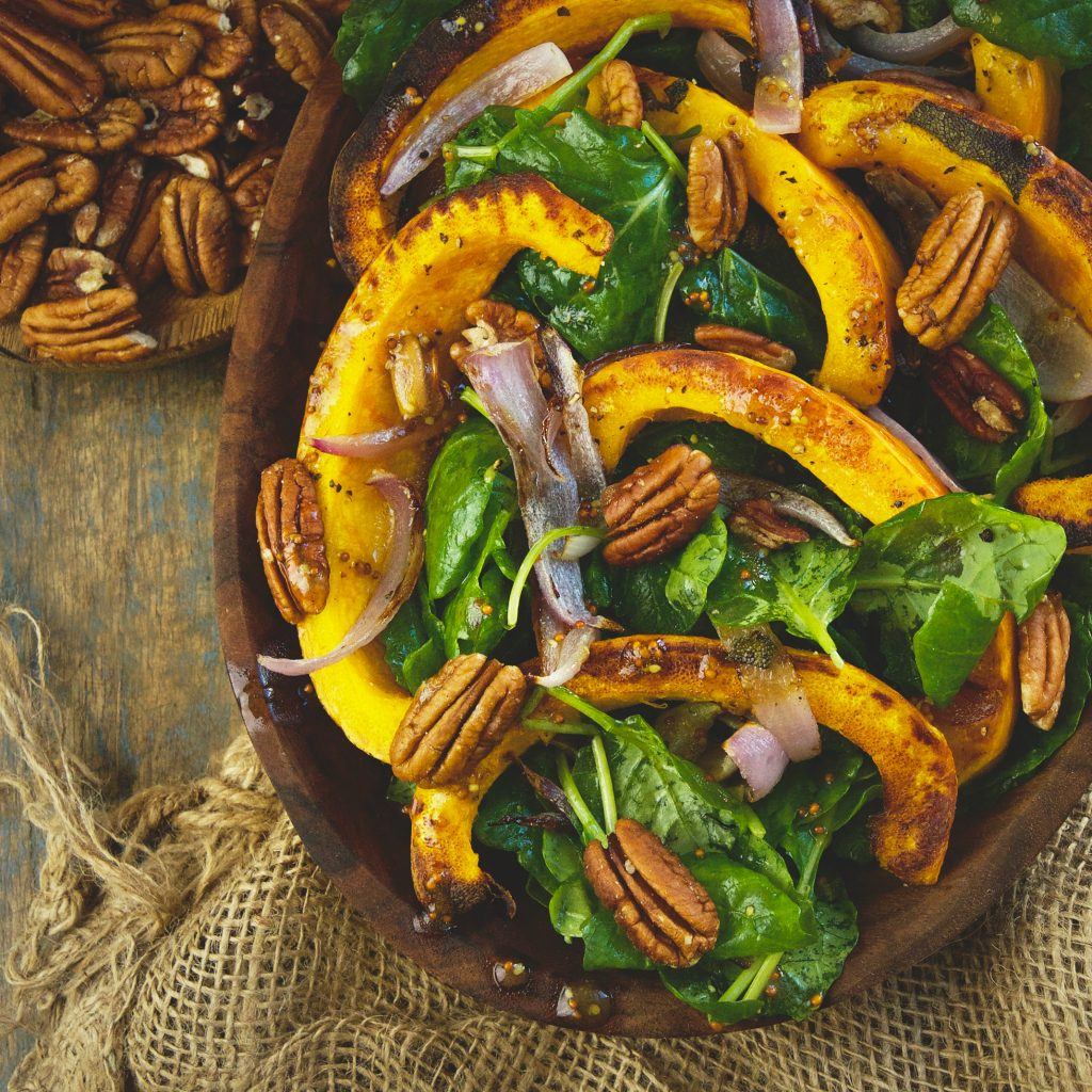 Low-Carb Roasted Pumpkin Salad -recipe image.