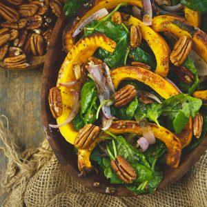 Low-Carb Roasted Pumpkin Salad -recipe image.