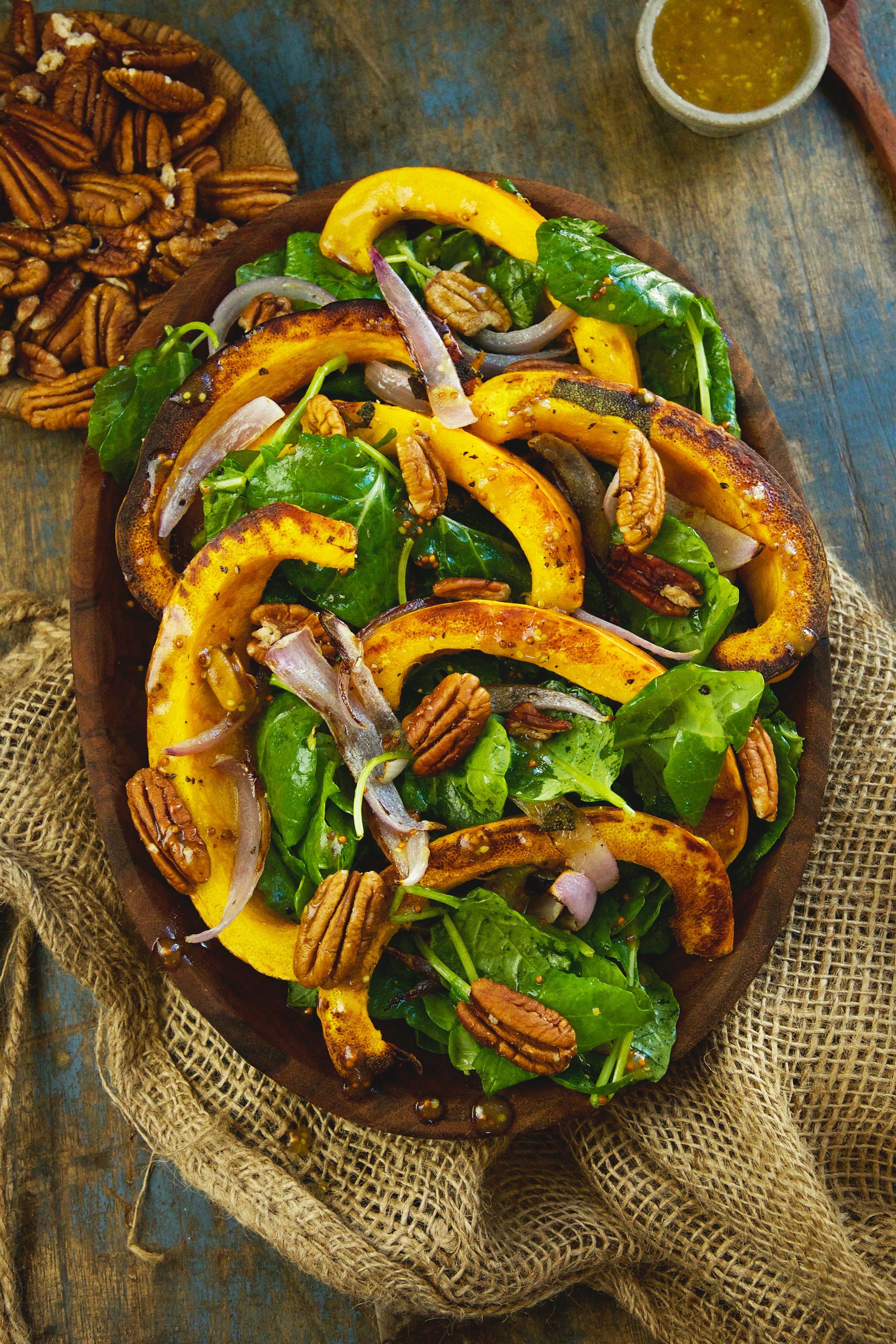 Low-Carb Roasted Pumpkin Salad -from above
