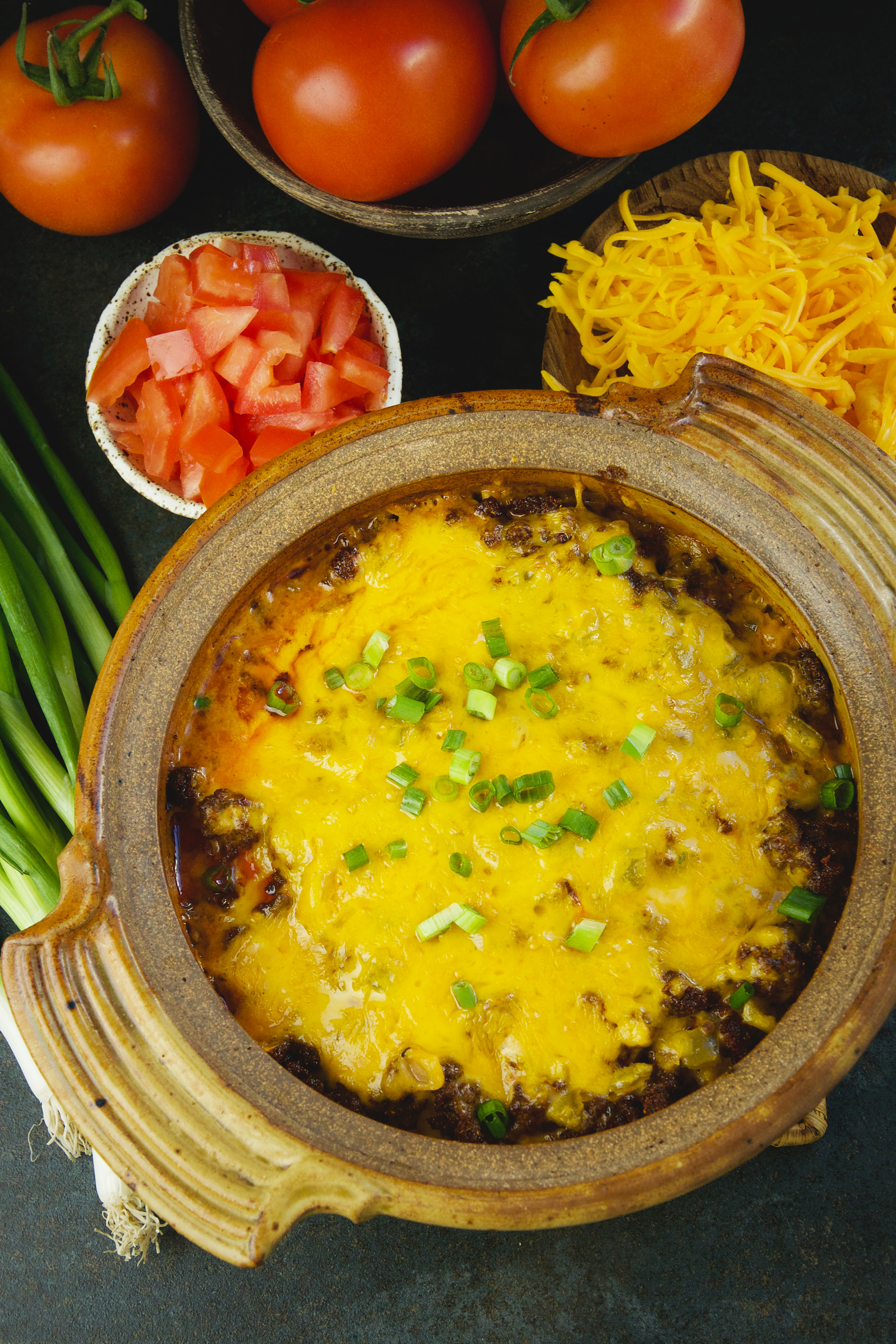 Low-Carb Mexican Taco Casserole-Before serving.
