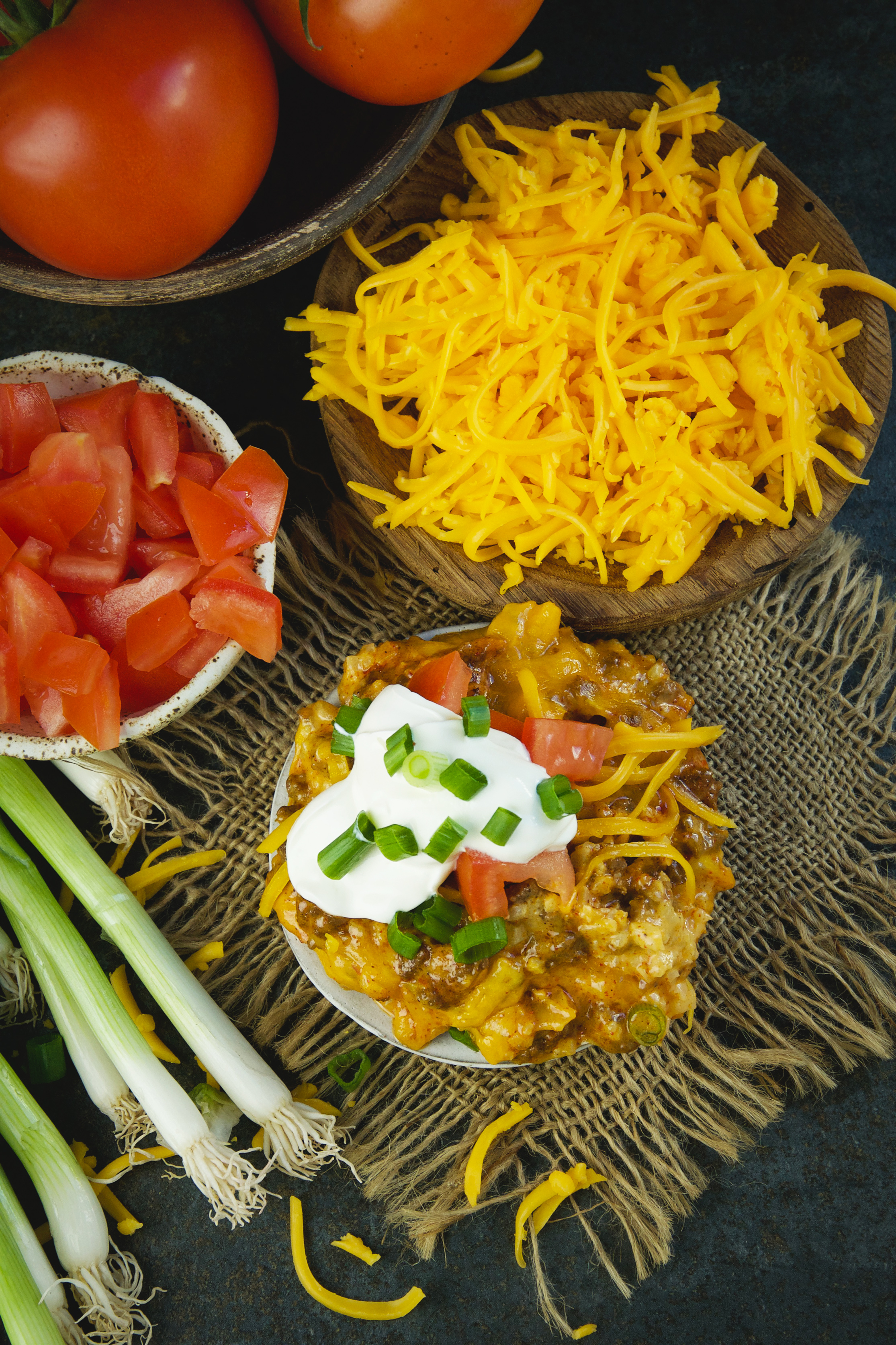 Low-Carb Mexican Taco Casserole-overhead shot