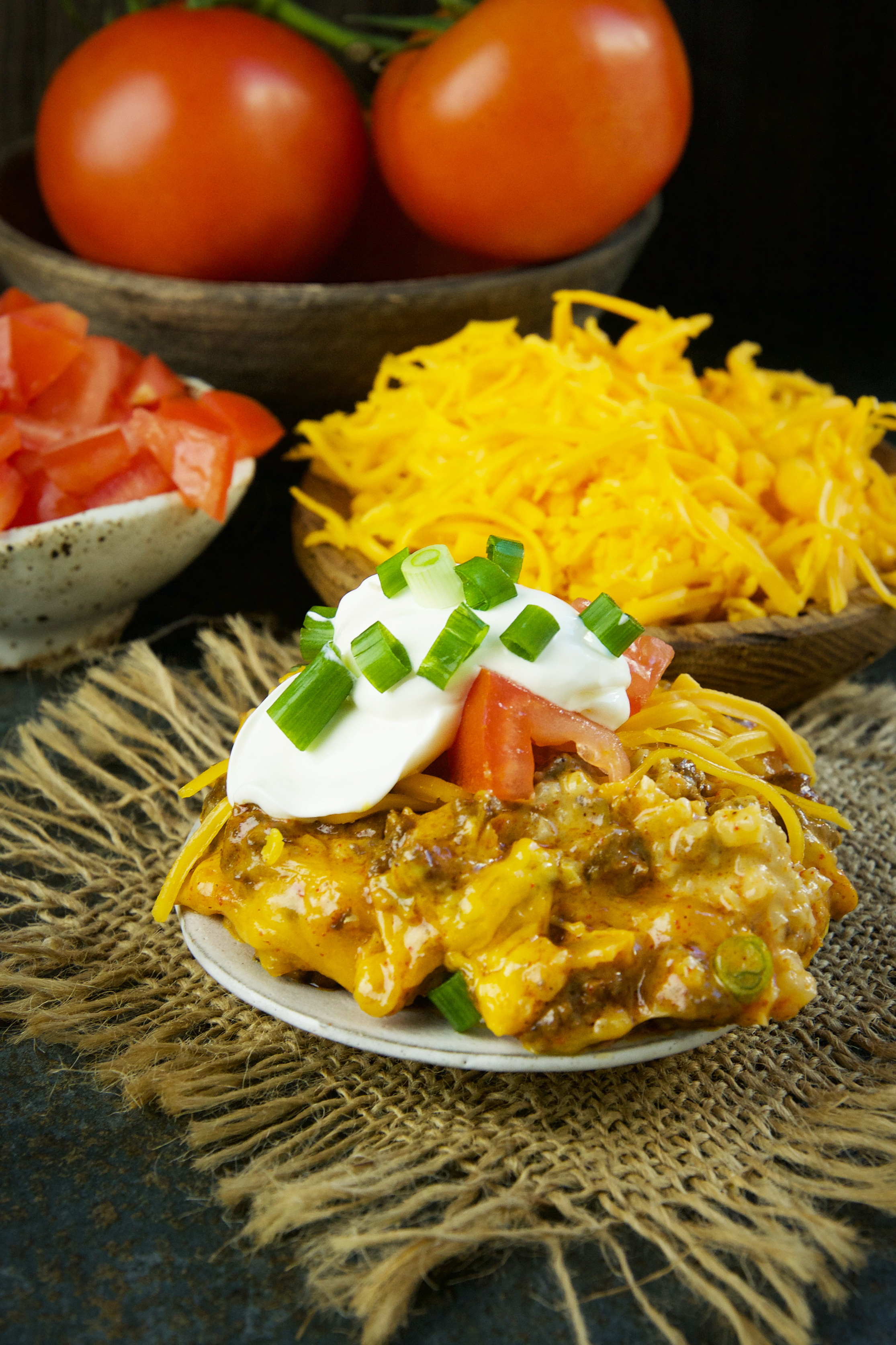 Low-Carb Mexican Taco Casserole-served on a plate.
