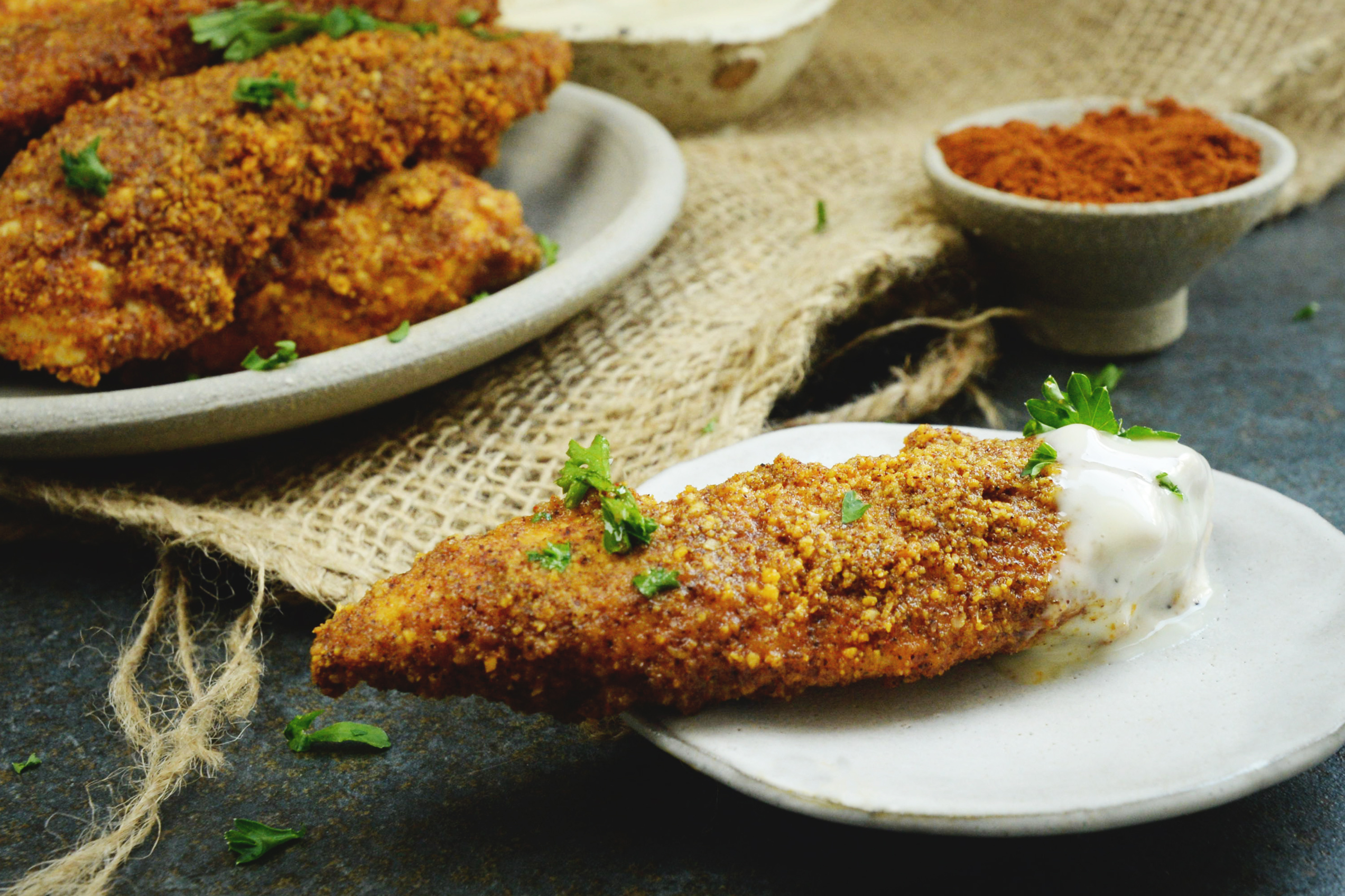 Low-Carb Buffalo Chicken Tenders
