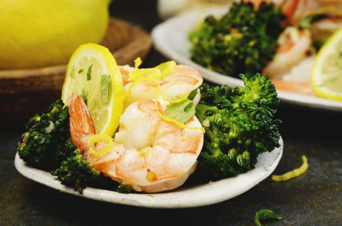 Lemon Garlic Shrimp Sheet Pan Dinner with Broccolini