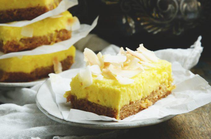 Low-Carb Coconut Lemon Bars Recipe