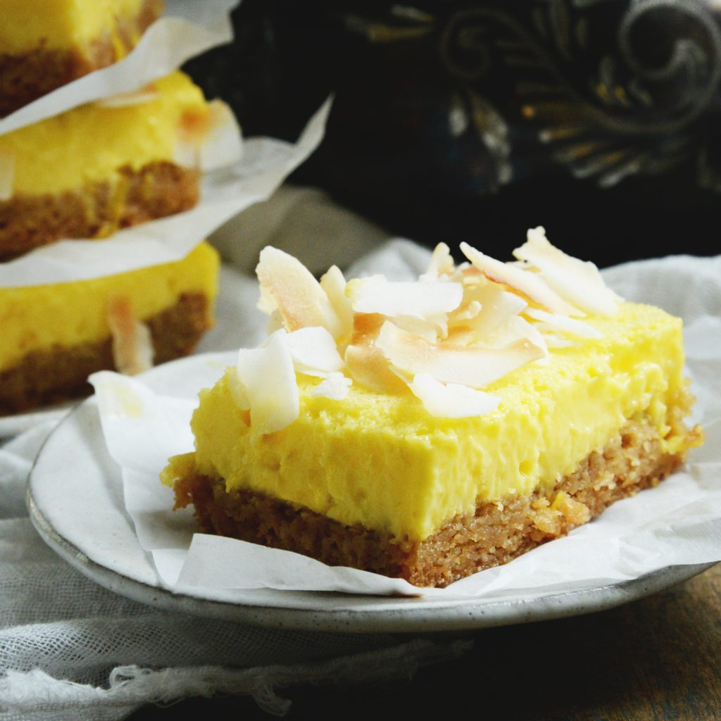 Low-Carb Coconut Lemon Bars-recipe photo.