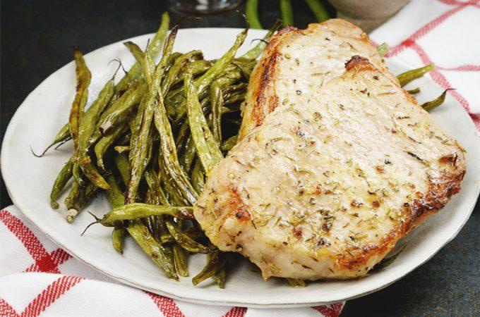 Sheet Pan Pork Chops Recipe with Green Beans