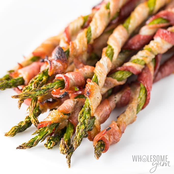 Low-Carb Asparagus Recipes-Crispy Bacon Wrapped Asparagus