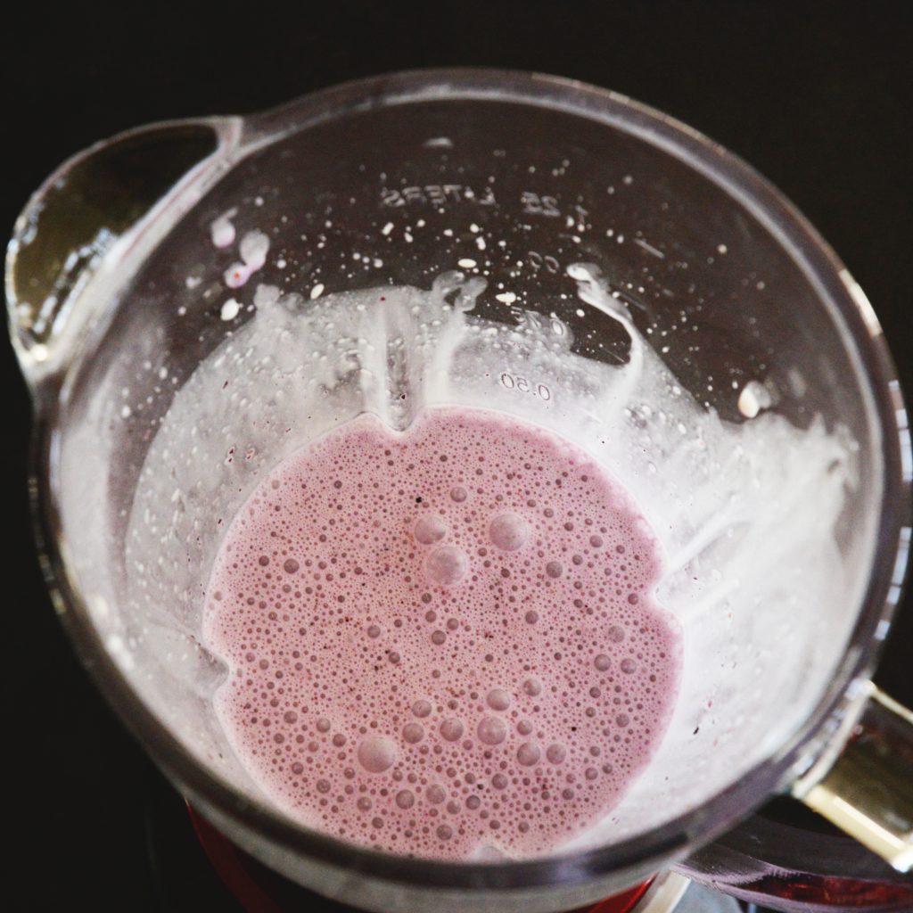 Low-Carb Blueberry Smoothie-after blending