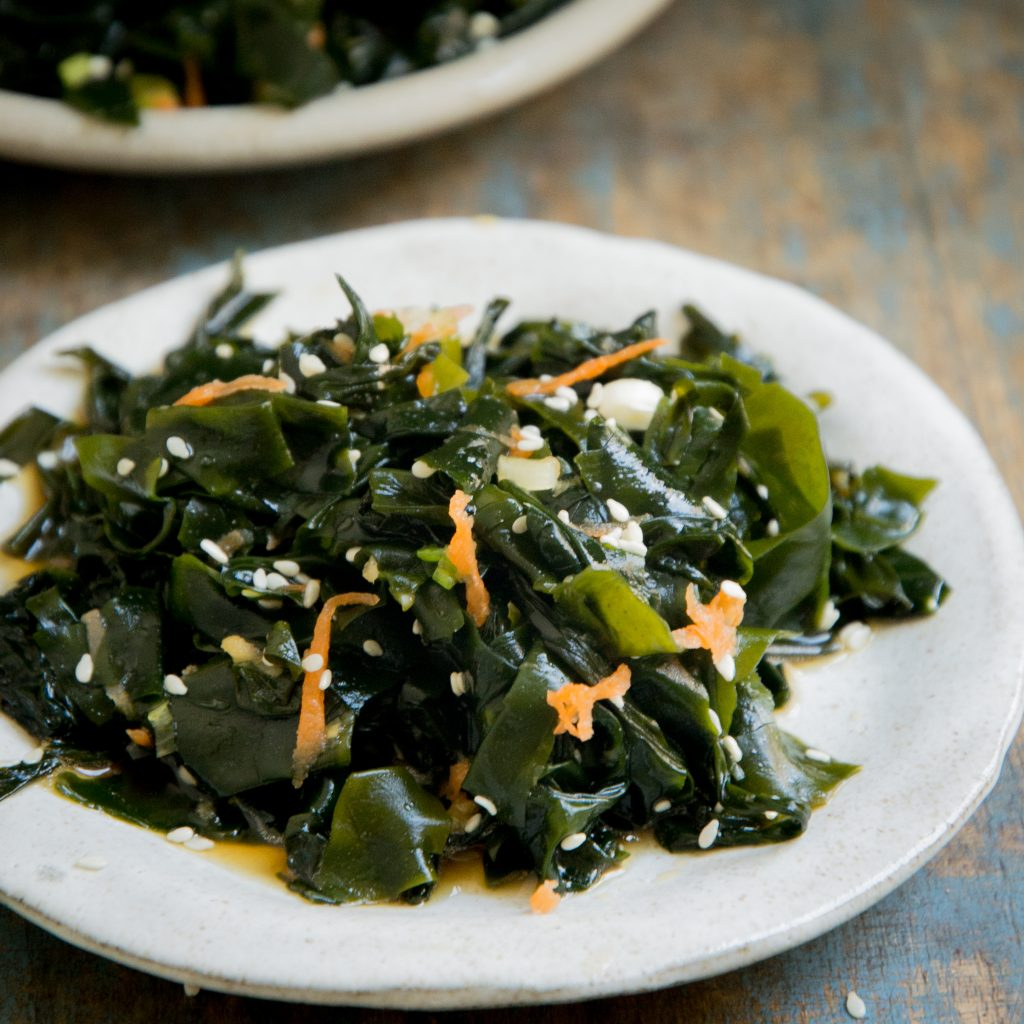 Low-Carb Seaweed Salad Recipe-close-up