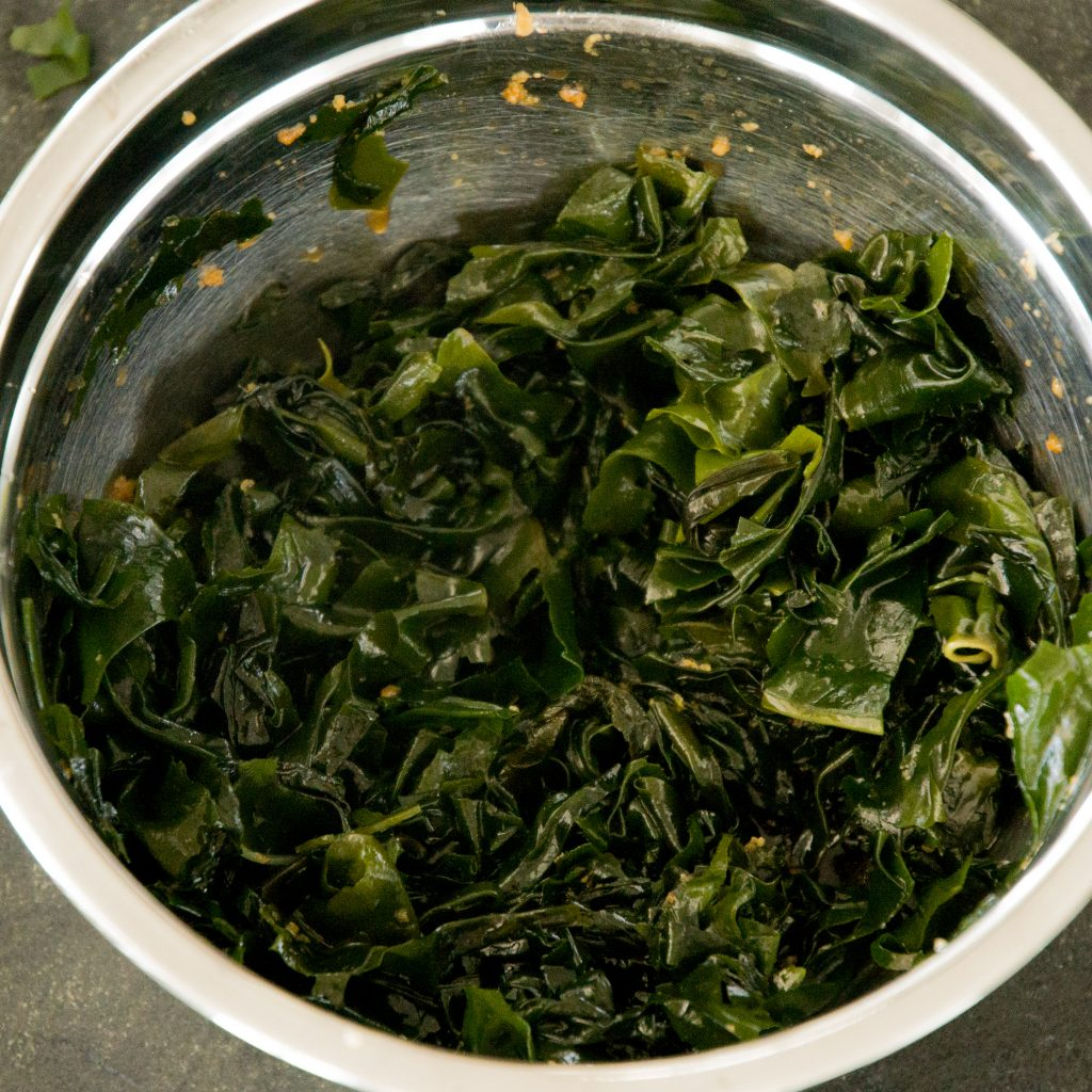 Low-Carb Seaweed Salad Recipe-in the mixing bowl.