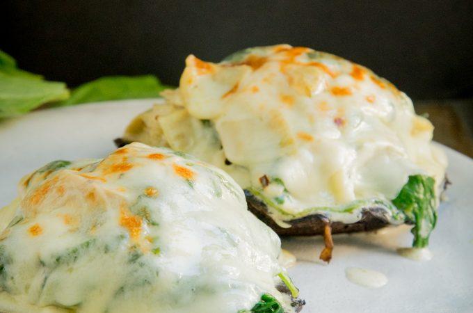 Keto Spinach and Artichoke Stuffed Mushrooms Recipe