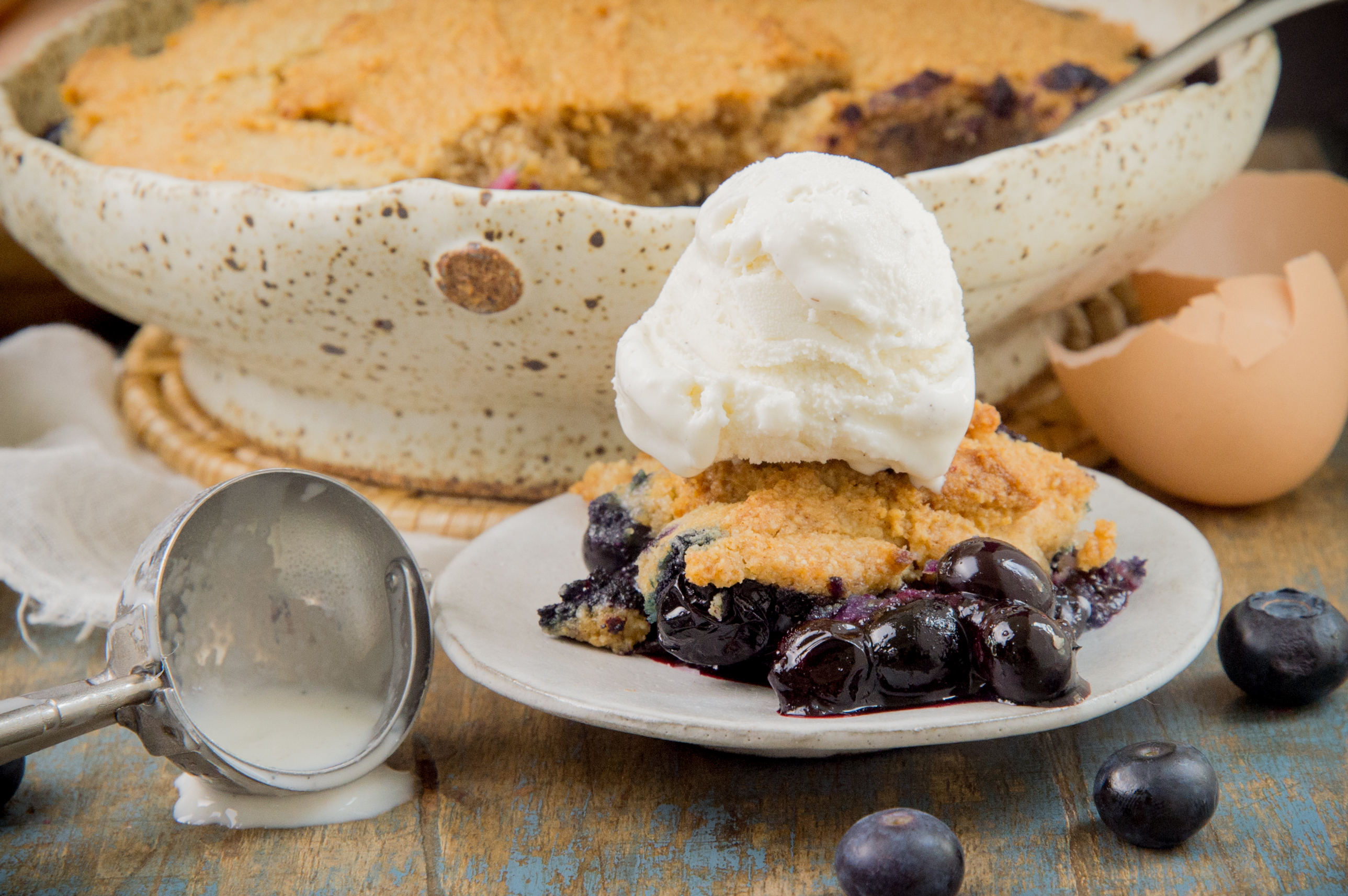 Low-Carb Keto Blueberry Cobbler