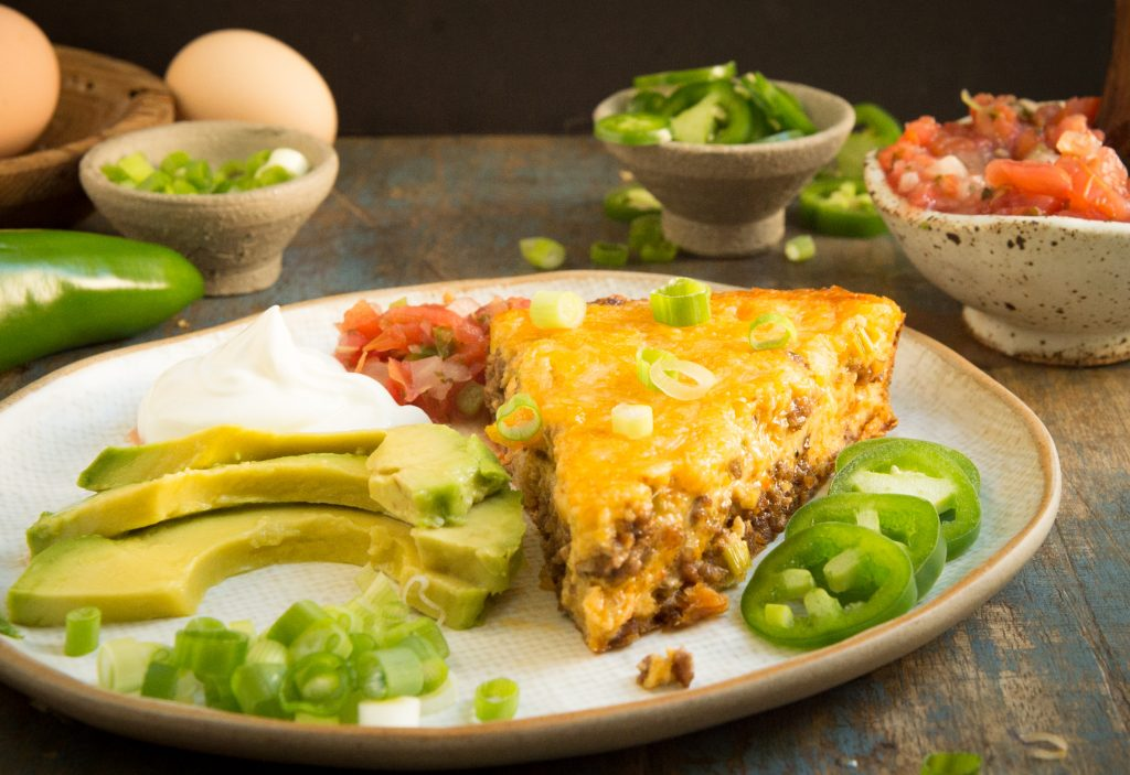 Easy Keto Crustless Taco Pie Recipe