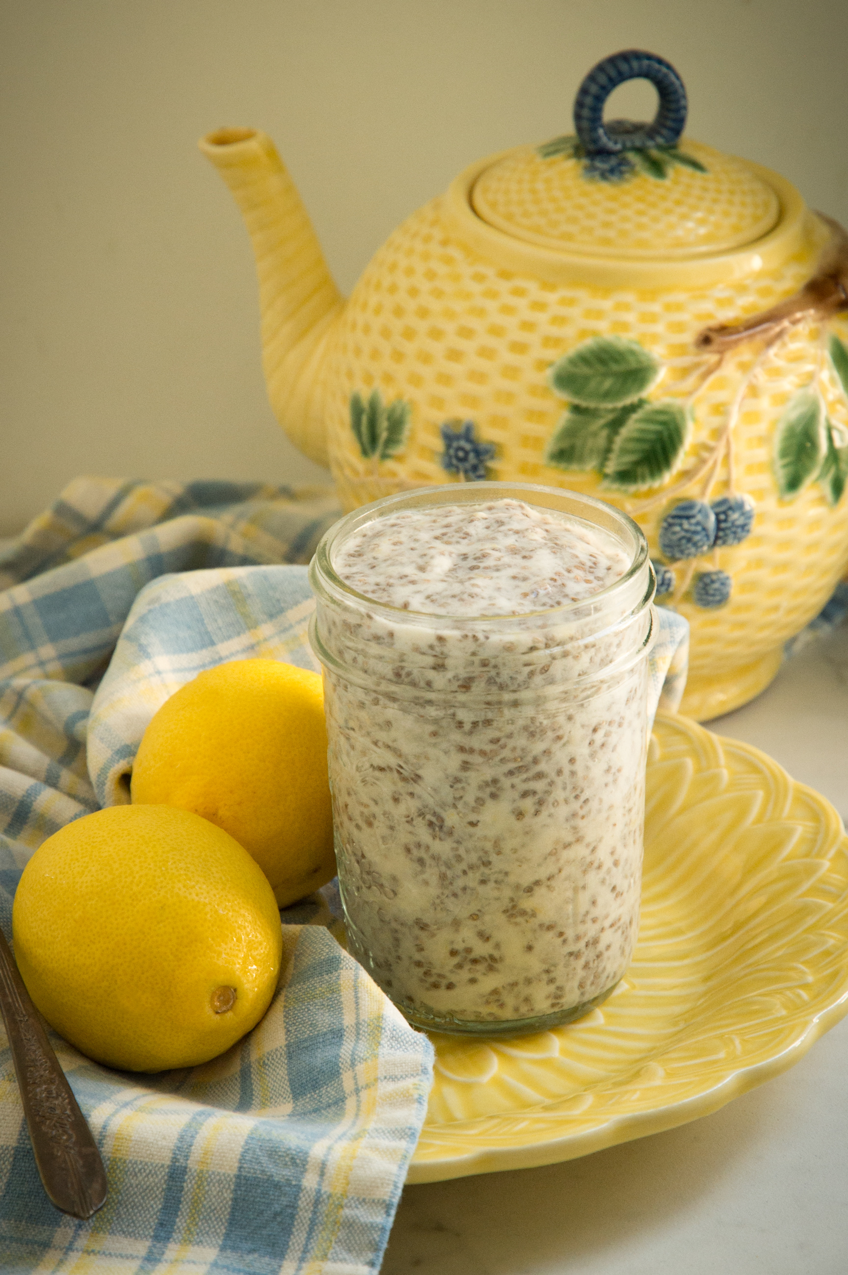 Easy Keto Lemon Chia Pudding -pre-garnish.