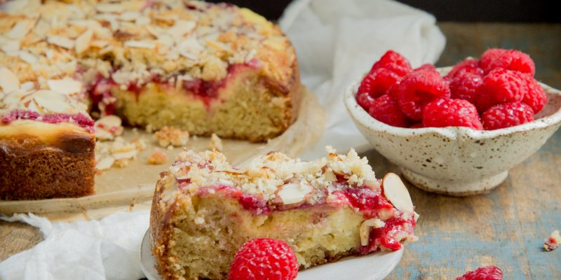 Keto Raspberry Cream Cheese Coffee Cake