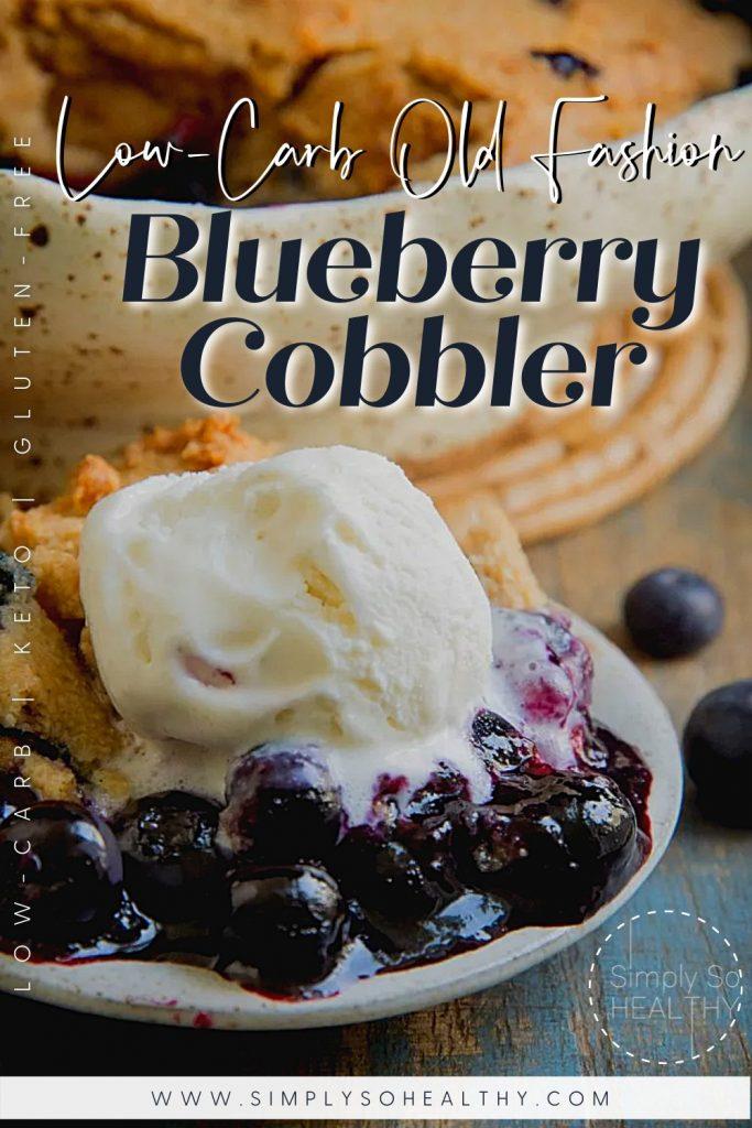 Low-Carb Blueberry Cobbler