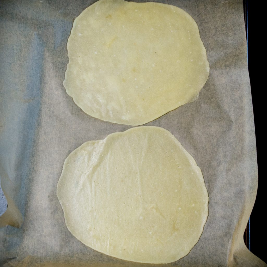 Keto Tortillas-Ready for the oven.