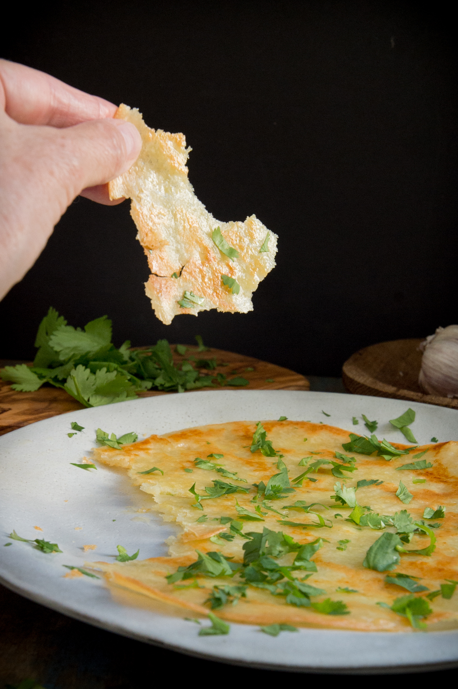 Keto Tortillas-taking a bite.