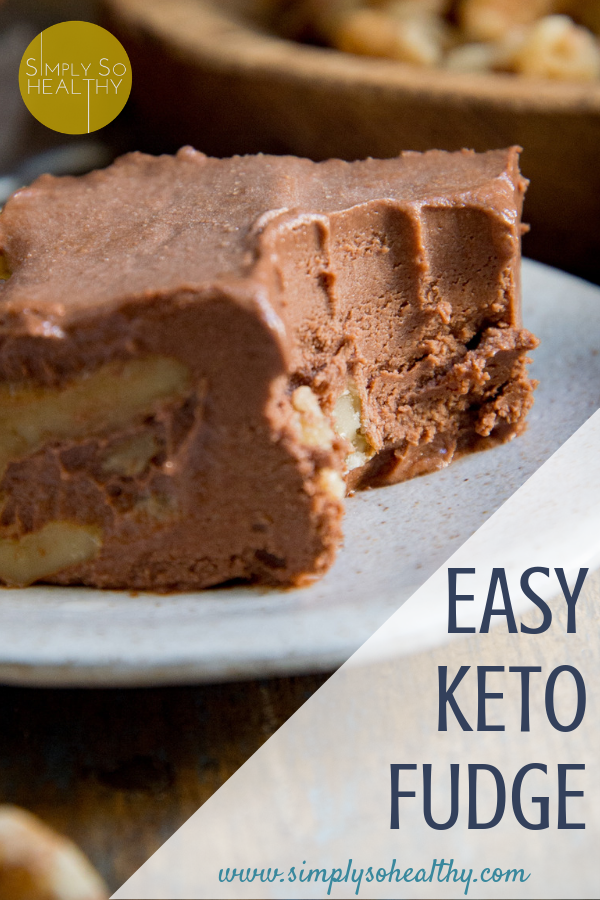 This Keto Chocolate Fudge melts in your mouth and is so easy to make! This sugar-free fudge recipe can be part of a low-carb, Atkins, diabetic, egg-free, gluten-free or Banting diet. #ketofudge #lowcarbfudge #ketocandy #ketochocolate #ketodessert