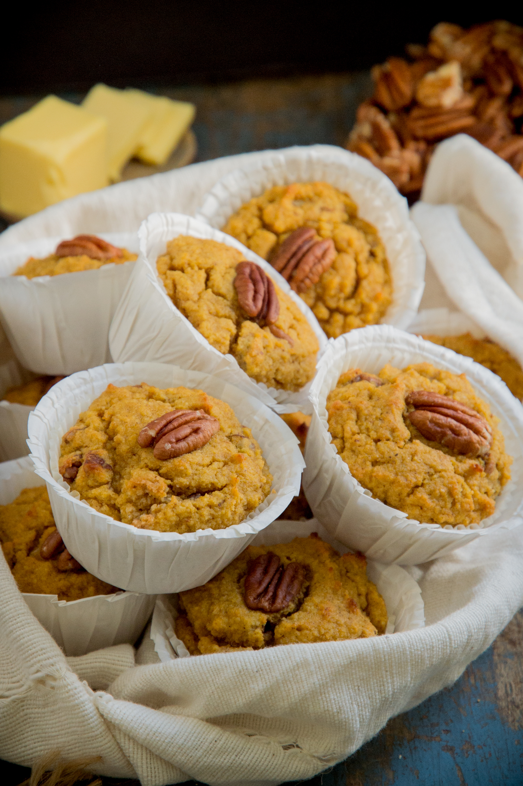 Low Carb Pumpkin Spice Muffins-fresh from the oven.